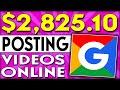 Earn $2,825.10 Re-Posting Free Videos Online (Make Money Online)