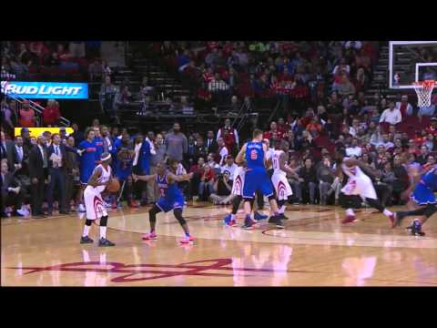 James Harden Jumps Over Jose Calderon