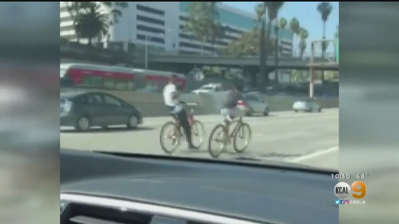 Pedestrians, Bicyclists Spotted On Our Freeways -- But Why?
