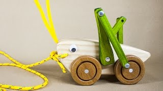 Grasshopper Handmade Wood Pull Toy
