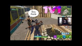 1v1 against another trash talking viewer