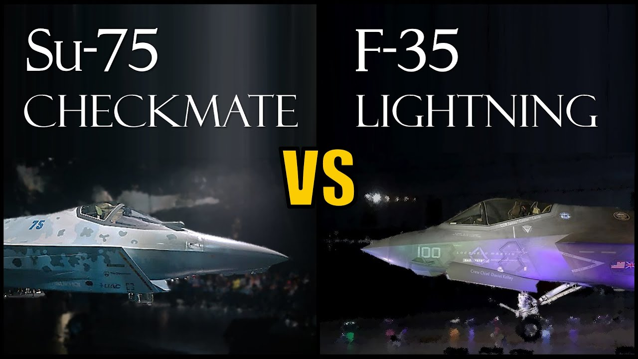 Download US F-35 vs Russian Su-75 Checkmate Fighter Jet - Which Would Win ?
