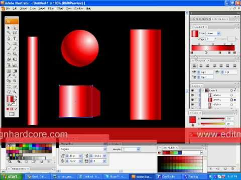 how to draw a 3d cylinder in illustrator