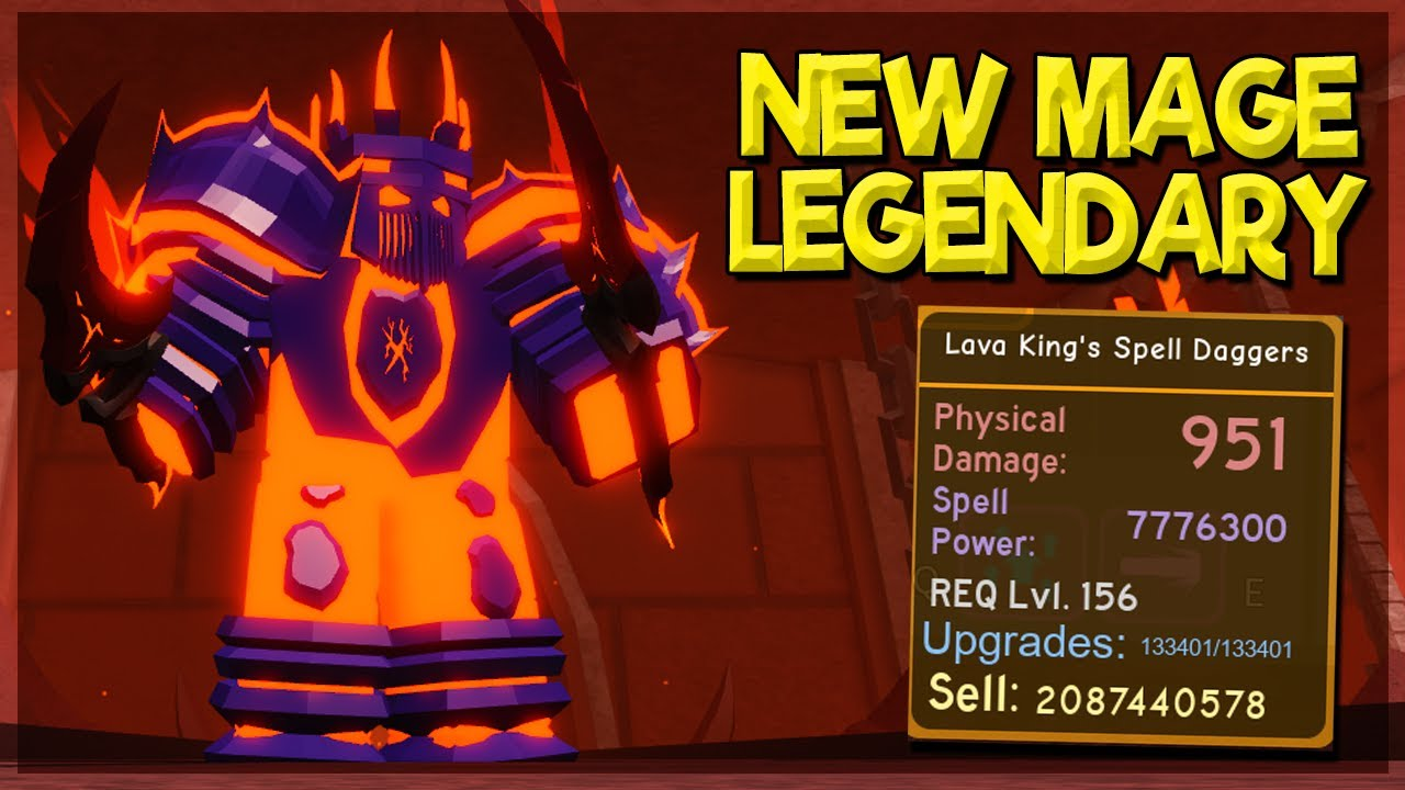 *NEW* MAGE LEGENDARY FROM VOLCANIC CHAMBERS OP SKILL! *WHENS NEXT UPDATE?* IN DUNGEON QUEST ROBLOX