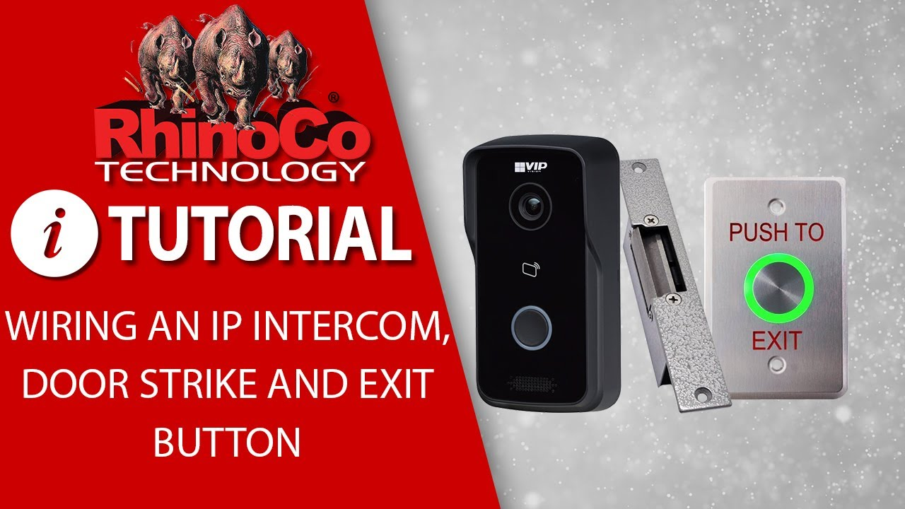 intiprdsdb residential ip intercom door station with wifi rhinoco technology [ 1280 x 720 Pixel ]