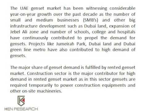 Generator Suppliers In UAE | Diesel Engines Suppliers UAE | Ken Research