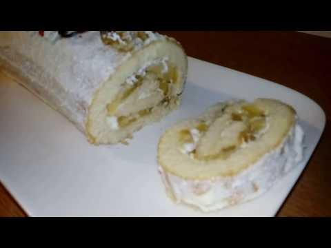 gâteau-roulé-ou-bûche-roulée-au-pommes-caramélisées-et-cerneaux-de-noix-un-vrai-délice-#-bûche