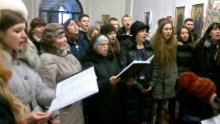 Пение хора ЕХБ г.Белая Церковь в Екатерининской церкви г.Чернигова