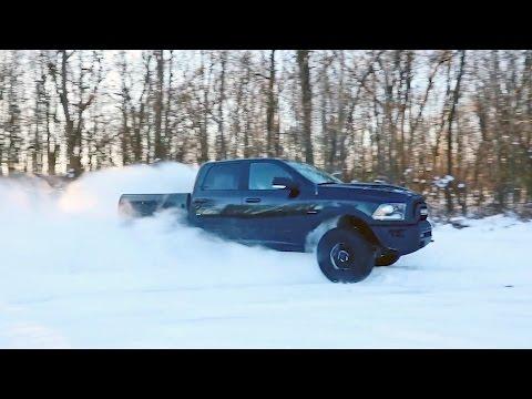 2017 Ram 1500 Rebel Black on Snow