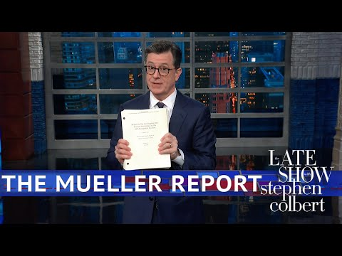 See Stephen Colbert Get His Copy Of The Mueller Report!