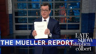 Download Colbert Gets His Copy Of The Mueller Report Mp3 and Videos