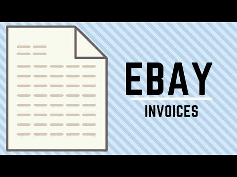 How do i create an invoice on ebay