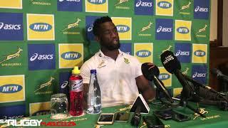 springbok press conference siya kolisi