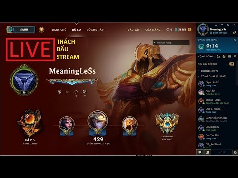 [LIVE][Thách đấu LoL] Blue Viktor đi top gank team