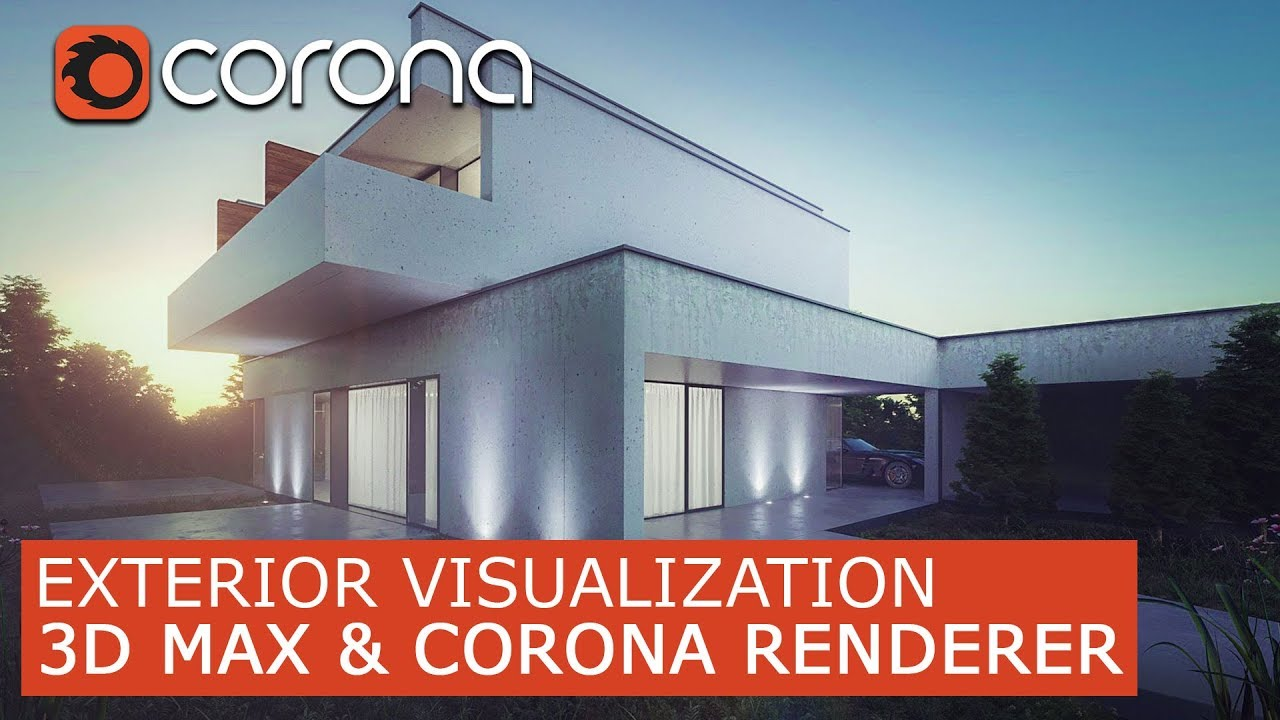 S Max Corona Renderer Exterior Visualization Tutorials For Beginners Architectural