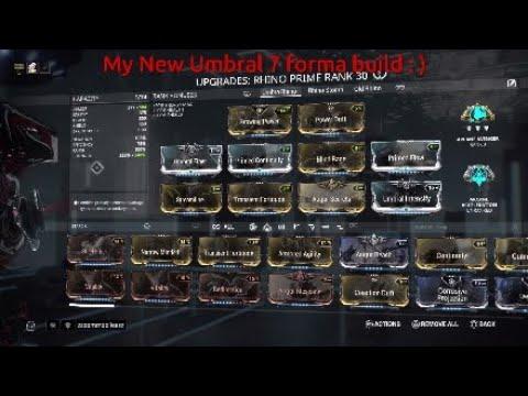 Best Rhino Prime Build 2019 Warframe Best Rhino build Umbral Rhino Prime 2018 7 Forma build