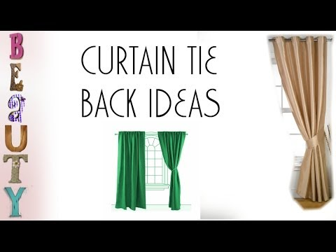 Curtains Ideas curtain hook tie backs : Curtain Tie Back Ideas - YouTube