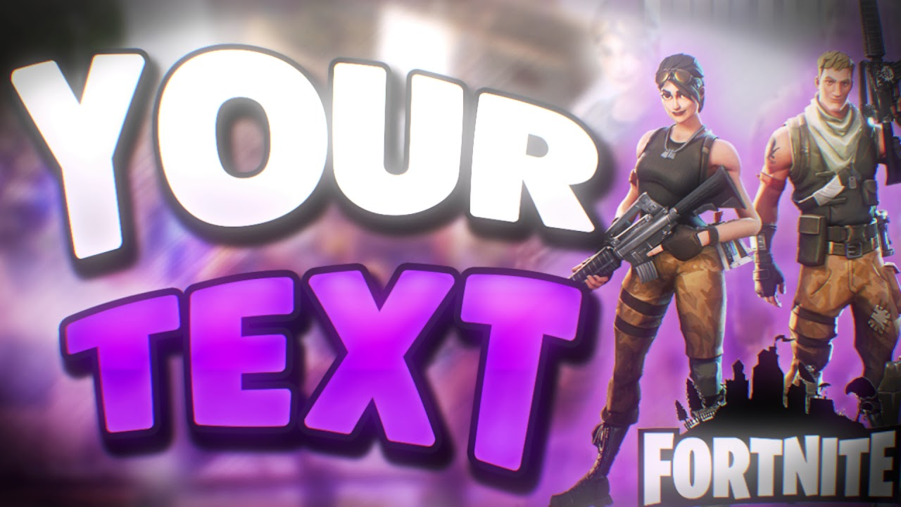 Free Fortnite Battle Royale Thumbnail Template Youtube