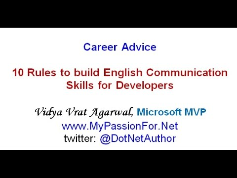 10 Rules Of English Communication For Developers