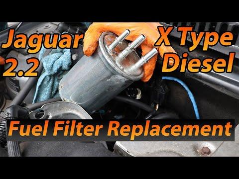 Jaguar X Type Diesel Fuel Filter Change (diy)