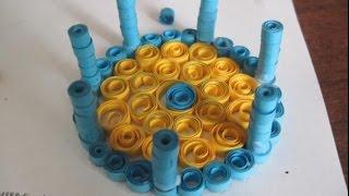 Как сделать шкатулку в стили квиллинг.(Как сделать шкатулку в стили квиллинг. Это шкатулка из бумаги, смотрите подробный мастер класс http://www.sdelaysam-sv..., 2014-09-24T10:26:57.000Z)