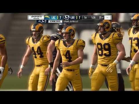 Madden 19 Week 3 Chargers VS Rams