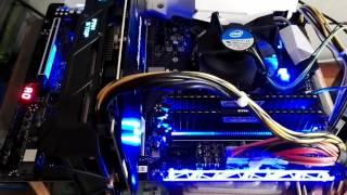 aorus flashing leds on gigabyte z270x gaming7 kaby lake motherboard