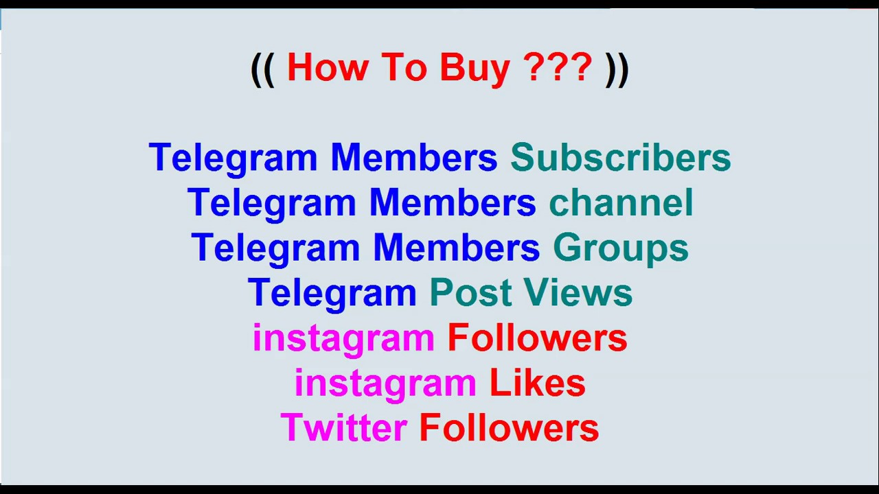 Buy Telegram Members - ( instant delivery) - PayPal & Bitcoin