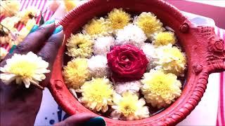 Urli flower decoration in a minute/ Diwali and other auspicious occasion flower decoration/Vastu