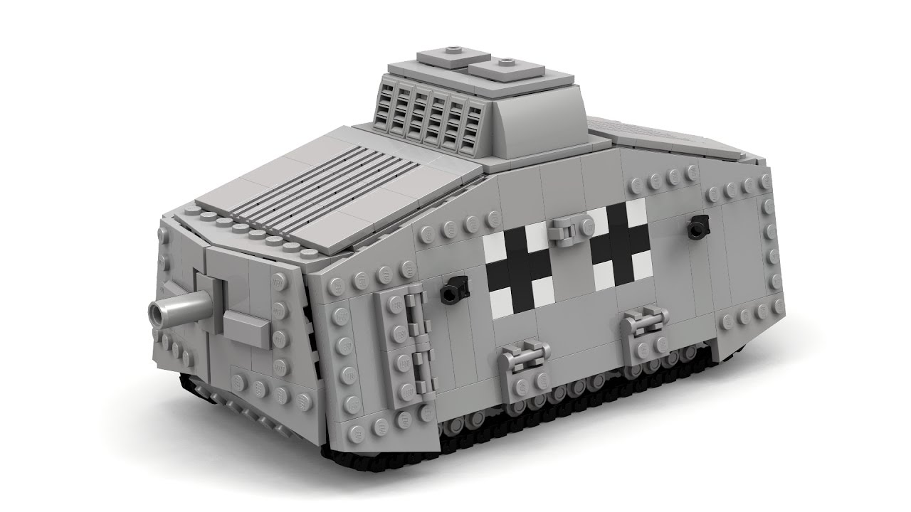 lego wwi german a7v tank instructions with parts list youtube