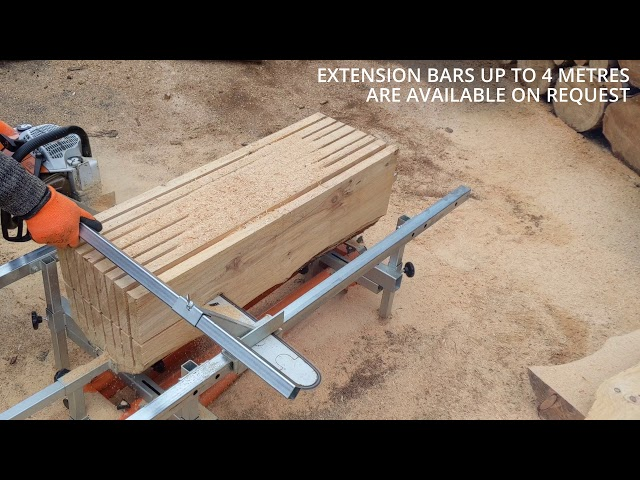 Chainsaw Mill Vertical and Horizontal Cutting - Milling Planks