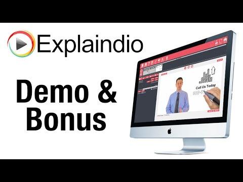 Explaindio Demo and Bonus - What Is Explaindio Video Creator?
