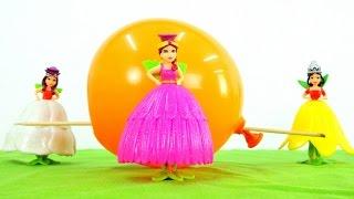 Мультфильмы для девочек. Куклы. Феи и фокус с воздушным шариком