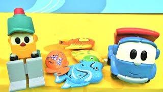 Машинки на рыбалке. Видео для детей и Грузовичок Лева