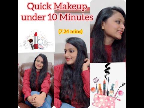ಕನ್ನಡ   Makeup Look under 10 mins   (7.24 mins only)   #Kannada.