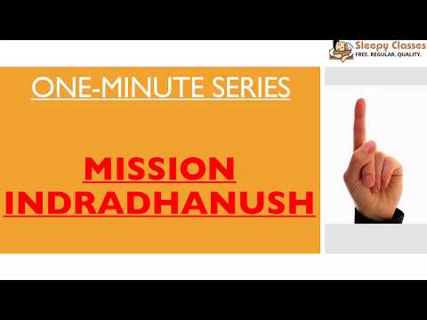 Mission Indradhanush  -  One Minute Series for IAS || UPSC || Prelims