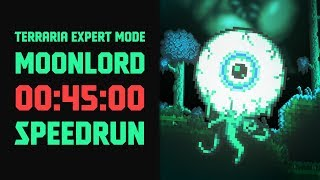 Terraria - [Expert Mode Speedrun] Moonlord in 45 minutes (Seeded ANY% RTA)