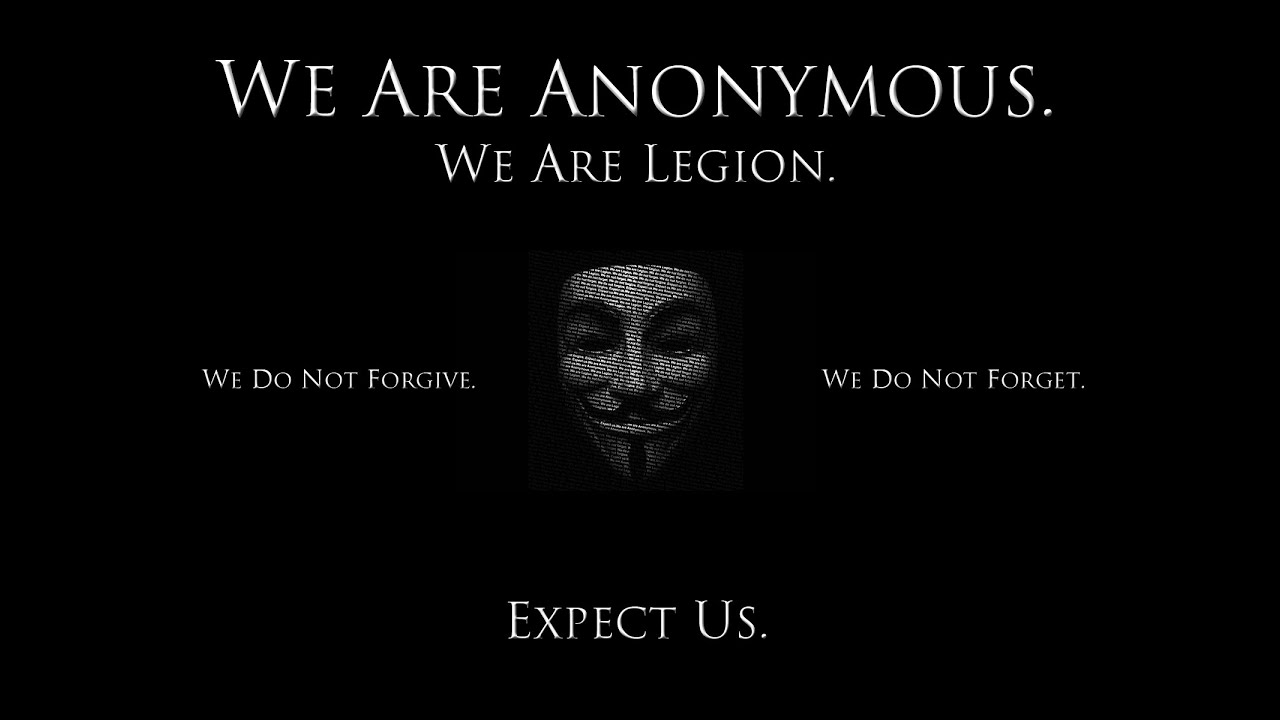 Greeting Citizens Of The World We Are Anonymous