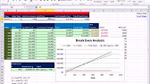 Perform a Break Even Analysis with Excel\'s Goal Seek Tool - YouTube