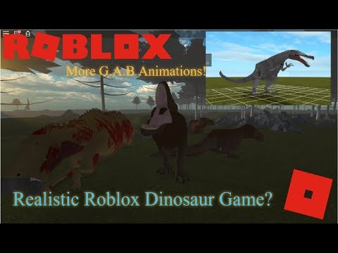 Roblox Era Of Terror - A Realistic Roblox Dinosaur Game? + More Gab Animations!