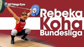 Rebeka Koha Full Session Bundesliga Weightlifting (92kg Snatch + C&J PR Attempt)