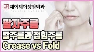 팔자주름; 칼주름과 접힘주름 Crease vs Fold