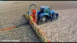 New Holland T7.270 Blue Power on Soucy Tracks | Injecting slurry w/ umbilical system | LB Breure