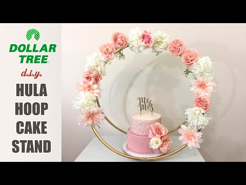 Diy Dollar Tree Affordable Hula Hoop Cake Stand - Easy, Fast, Cheap!