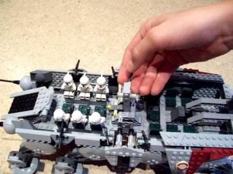 Lego star wars 10195 at ot mit dropship review 1 2 youtube - Croiseur interstellaire star wars lego ...