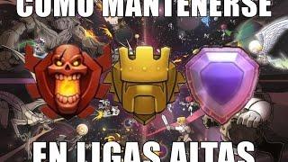 COMO MANTENERSE EN LIGAS EN ALTAS + Nueva estrategia de ataque [TH8]   Clash of Clans en español