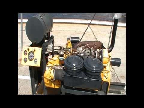 ROOTES DIESEL ENGINE 1955 @ Hobart Vintage Machinery Society Display @ the Wooden Boat Festival 2015