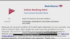 Bank of America Scam