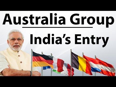 India Joins Australia Group - ऑस्ट्रेलिया ग्रुप का सदस्य बना भारत -  Current Affairs 2018