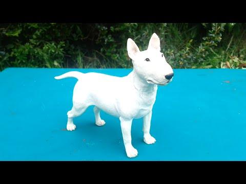 border fine arts margaret turner sculpture female white english bull terrier
